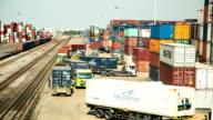 Railroad cargo ship. video