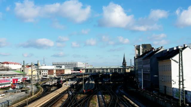 Railroad Station - Time Lapse video