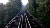 Railway bridge in rural of Thailand. video
