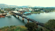 Railway Bridge over the River Kwai, Thong Pha Phum Kanchanaburi, Thailand. video