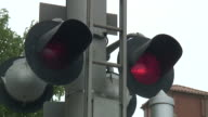(HD1080i) Railway Crossing Bells and Flashing Lights video