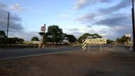 Railway crossing between Carrabin and Bodallin, Great Eastern Highway, Western Australia video