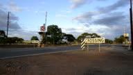 Railway crossing between Carrabin and Bodallin, Great Eastern Highway, Western Australia. video