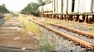 Railway Engine station. video