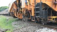 Railway Plasser and Theurer process video