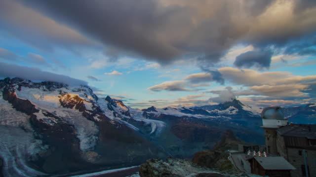Railway station Gornergrat and Matterhorn in background video
