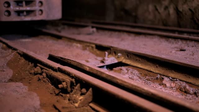 Railway switch in mine shaft video