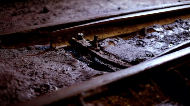 Railway switch in ore mine video
