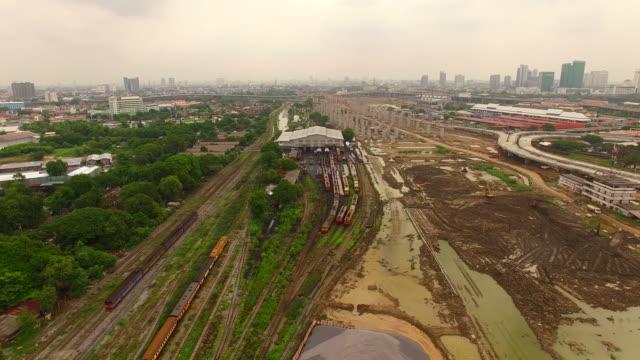 railway track at bangk sue junction in bangkok thailand video