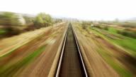 Railway travel - time lapse video