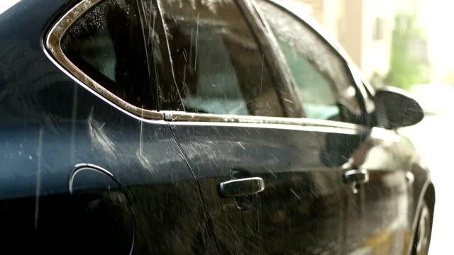 SLOW-MOT Rain and car video