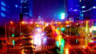 Rain and evening city. video
