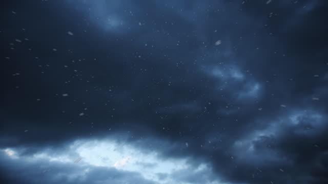 Rain and thunder storm video