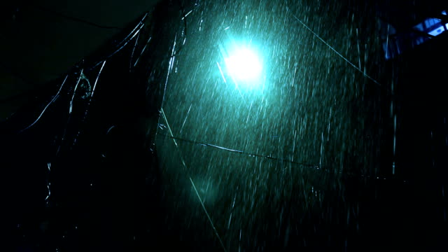 Rain at night video