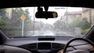Rain drive at residential street video