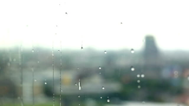 Rain drop at window video