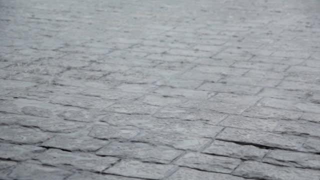 Rain drop on floor video