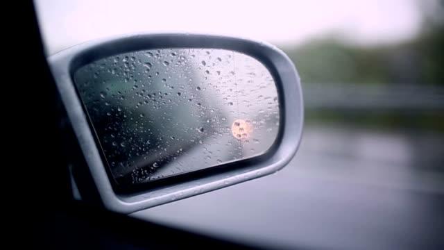 Rain droplets on the mirror video