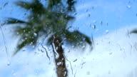 Rain Drops on a Side Window of a Car video