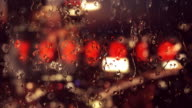 Rain drops on the window video