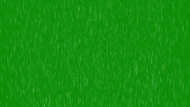 Rain Green Screen video