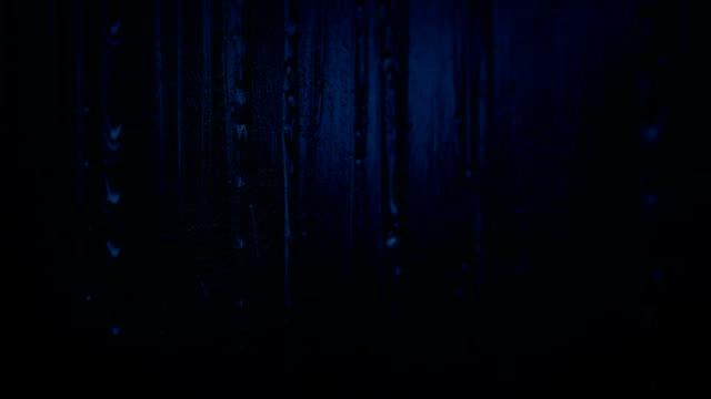 Rain Hitting Window In The Dark video