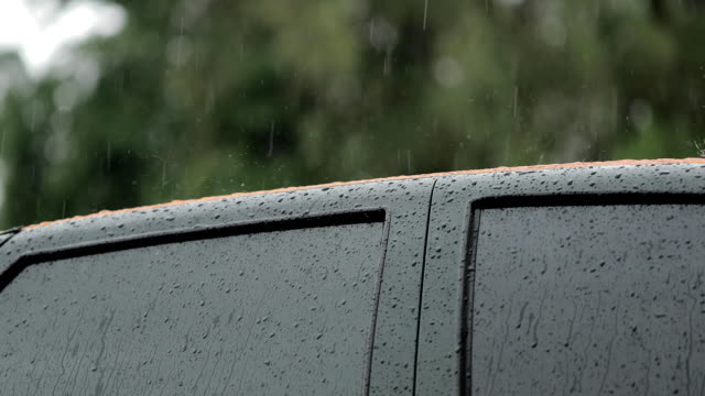 rain on the roof of the car video