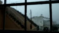 Rain on window. video