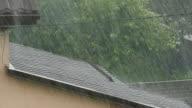 Rain Water Falling Of Roof video