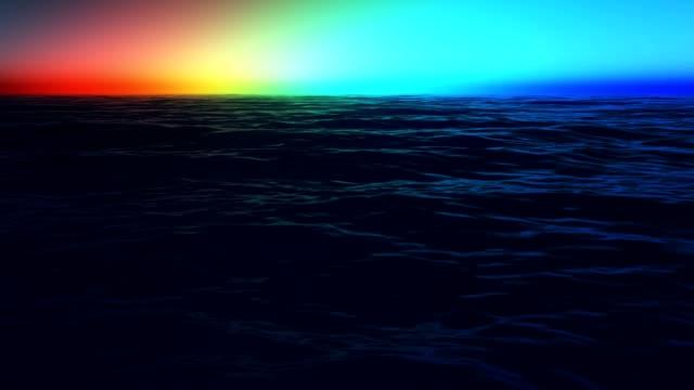 rainbow at coast of the sea video