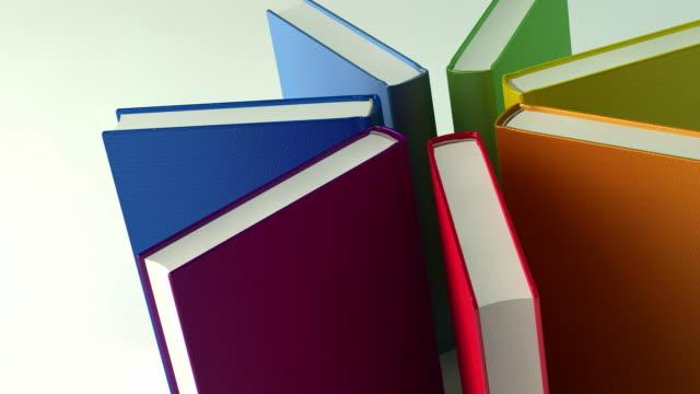 Rainbow books star. Looping video