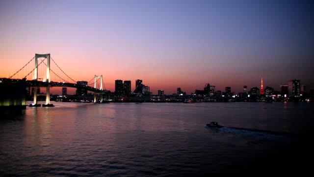 Rainbow Bridge And Tokyo Tower video
