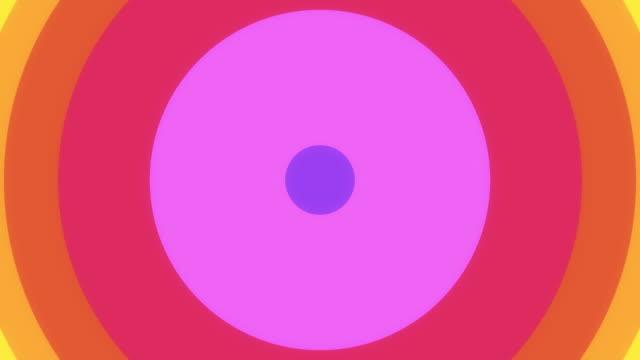 Rainbow Circle Wipe. (With Alpha) video