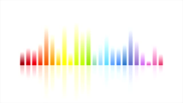Rainbow colors musical equalizer video animation video