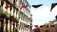 Rainbow Flag Gay Rights Pride in Madrid, Spain video