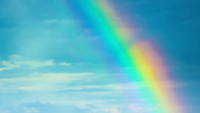 Rainbow in the nature video