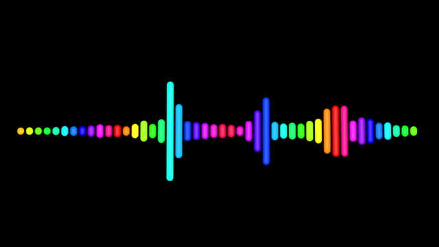 rainbow music equalizer video