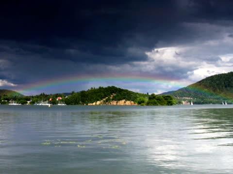 PAL: Rainbow over lake video