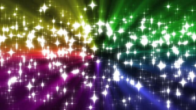 Rainbow Sparkles Background Loop video