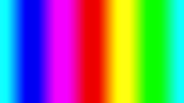 Rainbow spectral gradient moving quickly left, seamless loop video