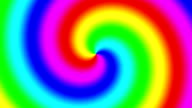 Rainbow spectral swirl rotating quickly clockwise, seamless loop video