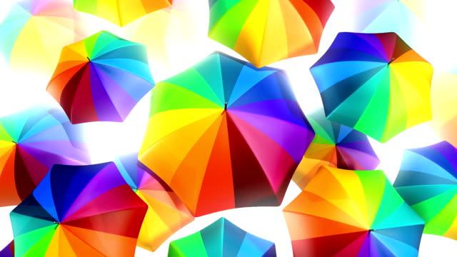 Rainbow Umbrellas 3D Video Background - HD1080 video