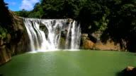 Rainbow waterfall video