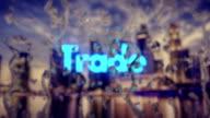 Raindrops, City Background, Trade Center video