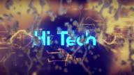 Raindrops, Hi Tech Background video