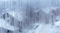 Raindrops on window. Time lapse. video