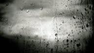 Raindrops on window (loopable) video