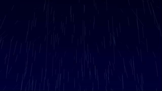 raining at night animation video