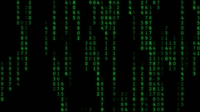 4K Raining Random Data Codes video