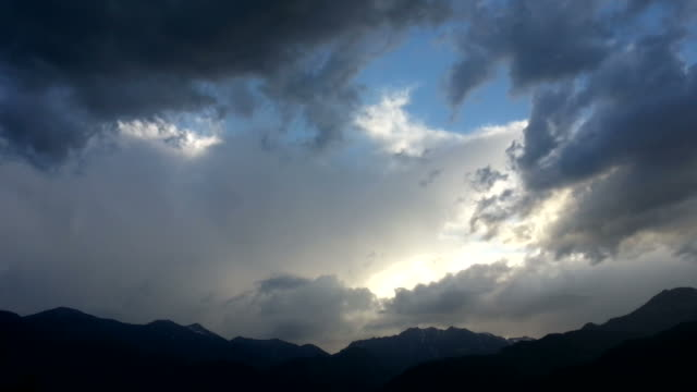 Rainstorm over the Alps, HD Timelapse Video video